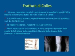 cause della frattura colles