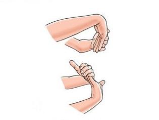 illustrazione esercizi per epicondilite