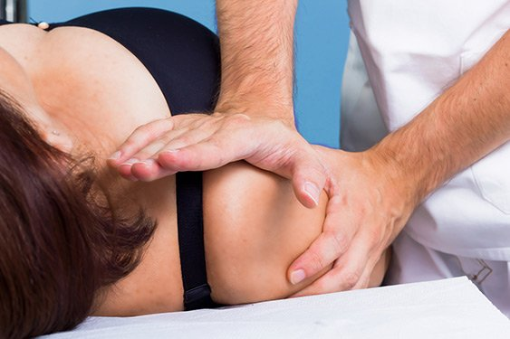 cura per la borsite della spalla