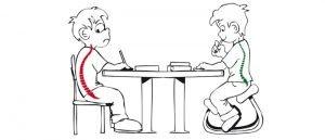 postura corretta a scuola