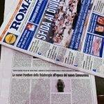 """Roberto Franzese: intervista giornale """"Roma"""""""